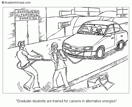 Cartoon #56, Graduate students are trained for careers in alternative energies